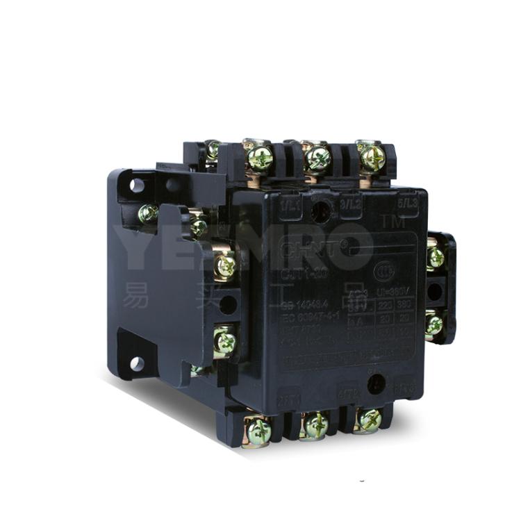 特征额定电压(V) : 380, 线圈频率(Hz) : 50, 极数 : 3NO, 辅助触点 : 2NO+2NC; CJT1 系列交流接触器(以下简称接触器),主要用于交流50Hz或60Hz,额定工作电压至380V,电流至150A的电力线路中,作远距离接通与分断电路之用,并可以与适当的热继电器或电子式保护装置组合成电动机起动器,以保护可能发生过载的电路。符合标准:GB 14048.